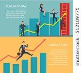 business people running arrow... | Shutterstock .eps vector #512109775