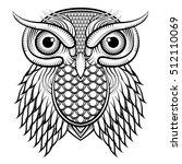 owl  illustration black and...   Shutterstock .eps vector #512110069
