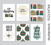 vector set of hand drawn of... | Shutterstock .eps vector #512114764