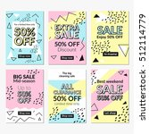 flat design sale website... | Shutterstock .eps vector #512114779