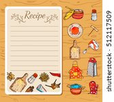 recipe book page with empty
