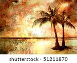 Tropical Sunset   Artwork In...