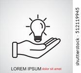 line icon  idea | Shutterstock .eps vector #512119945
