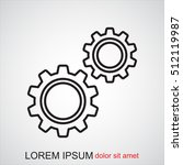 line icon   gears | Shutterstock .eps vector #512119987
