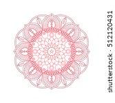 flower mandalas. vintage...   Shutterstock .eps vector #512120431