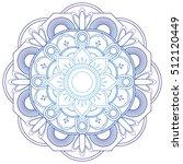 flower mandalas. vintage... | Shutterstock .eps vector #512120449