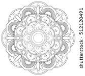 flower mandalas. vintage... | Shutterstock .eps vector #512120491