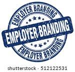 employer branding stamp.  blue... | Shutterstock .eps vector #512122531