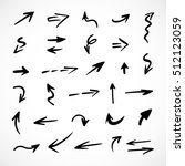 hand drawn arrows  vector set | Shutterstock .eps vector #512123059