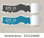 craft vector paper hole with... | Shutterstock .eps vector #512124685