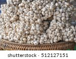 many garlics in market from... | Shutterstock . vector #512127151