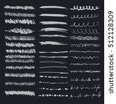 set of vector grunge brushes.... | Shutterstock .eps vector #512128309
