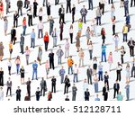 many the isolated portraits of... | Shutterstock . vector #512128711