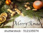 filtered vintage christmas... | Shutterstock . vector #512135074