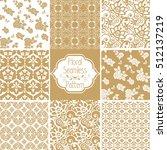 set of victorian damask... | Shutterstock .eps vector #512137219