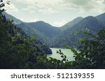 mountains abkhazia road on rizza | Shutterstock . vector #512139355