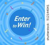 winer sign. congratulations win ... | Shutterstock .eps vector #512144041
