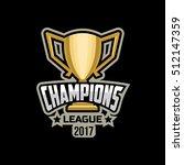 champions sports league logo... | Shutterstock .eps vector #512147359
