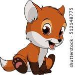 little funny fox | Shutterstock .eps vector #512148775