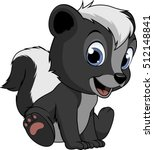 little funny skunk | Shutterstock .eps vector #512148841