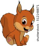 cute squirrel on white... | Shutterstock .eps vector #512148871