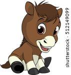 little funny foal | Shutterstock .eps vector #512149099