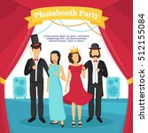 photo booth party with people... | Shutterstock .eps vector #512155084
