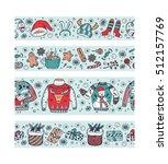 christmas banners set design.... | Shutterstock .eps vector #512157769