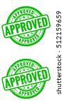 vector approved stamp  grunge... | Shutterstock .eps vector #512159659