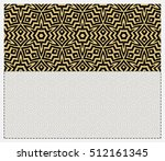 invitation template. gold... | Shutterstock .eps vector #512161345