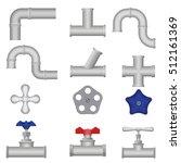 construction plumbing pieces... | Shutterstock .eps vector #512161369