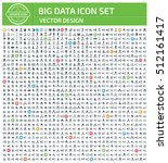 big data icon set clean vector | Shutterstock .eps vector #512161417