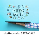 interns wanted concept with a... | Shutterstock . vector #512163577