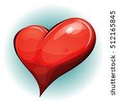 cartoon big red heart icon ...