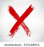 grunge letter x.hand drawn x... | Shutterstock .eps vector #512168911