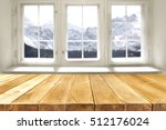 desk of free space and window... | Shutterstock . vector #512176024