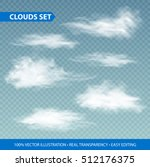transparent clouds realistic... | Shutterstock .eps vector #512176375