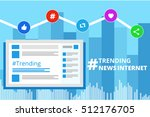 the hastag sign of trending... | Shutterstock .eps vector #512176705