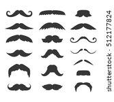 hipster mustache big set on...   Shutterstock . vector #512177824