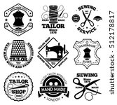 vector set of sewing and tailor ... | Shutterstock .eps vector #512178817
