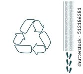 recycle sign isolated  line icon | Shutterstock .eps vector #512186281