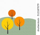simple autumn tree background ... | Shutterstock . vector #512187079