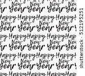 seamless pattern happy new year ... | Shutterstock .eps vector #512195251