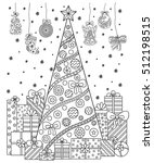 doodle pattern in black and... | Shutterstock .eps vector #512198515