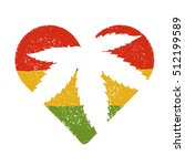 marijuana silhouette in heart... | Shutterstock .eps vector #512199589