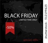 black friday 50 percent sale on ... | Shutterstock .eps vector #512199625