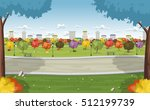 road on colorful park in the... | Shutterstock .eps vector #512199739