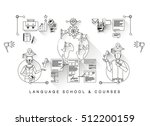 flat banner  one page web... | Shutterstock .eps vector #512200159