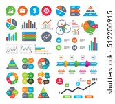 business charts. growth graph.... | Shutterstock .eps vector #512200915