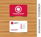 business card template with... | Shutterstock .eps vector #512203624